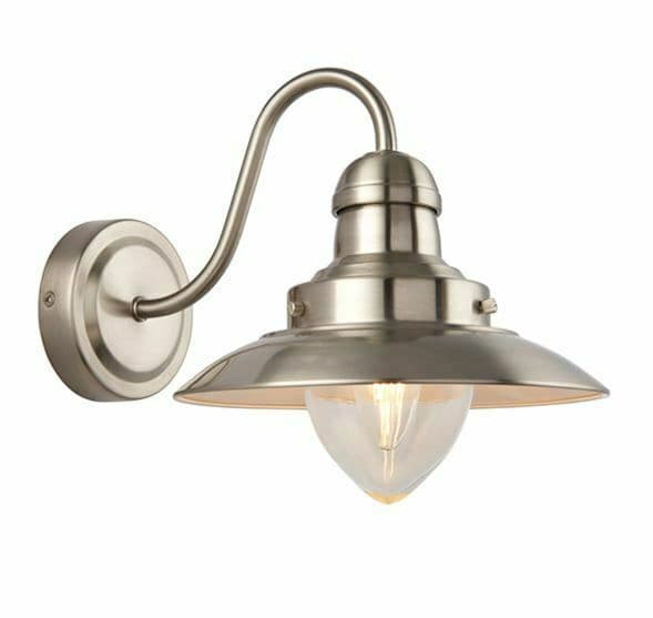 Mendip Satin nickel plate & clear glass dimmable Wall Light